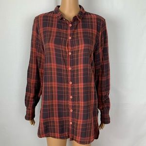 Free People x CP Shades Plaid Tunic Shirt ButtonUp